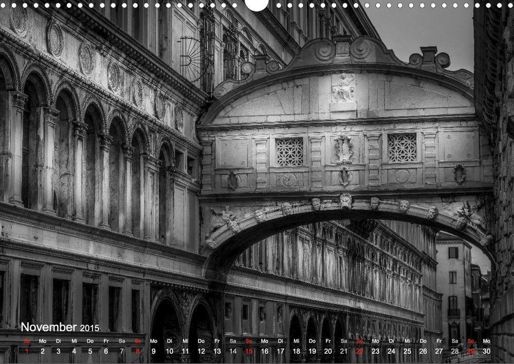"""Seufzerbrücke - Aus meinem Kalender """"Venedig - Licht und Schatten"""""""