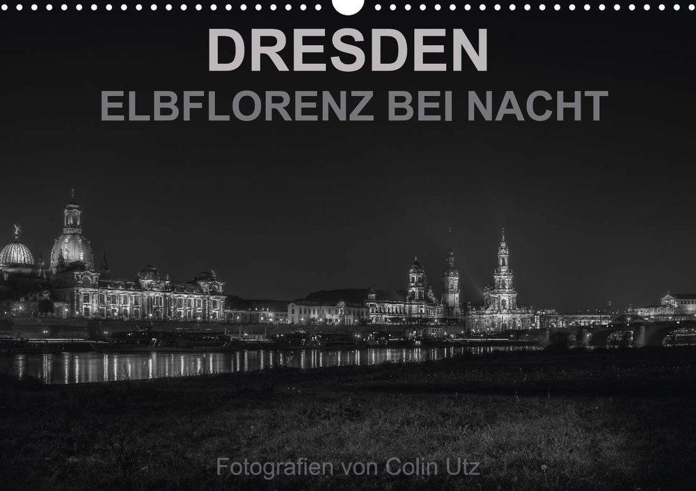 Kalender 2017 - Dresden Elbflorenz bei Nacht