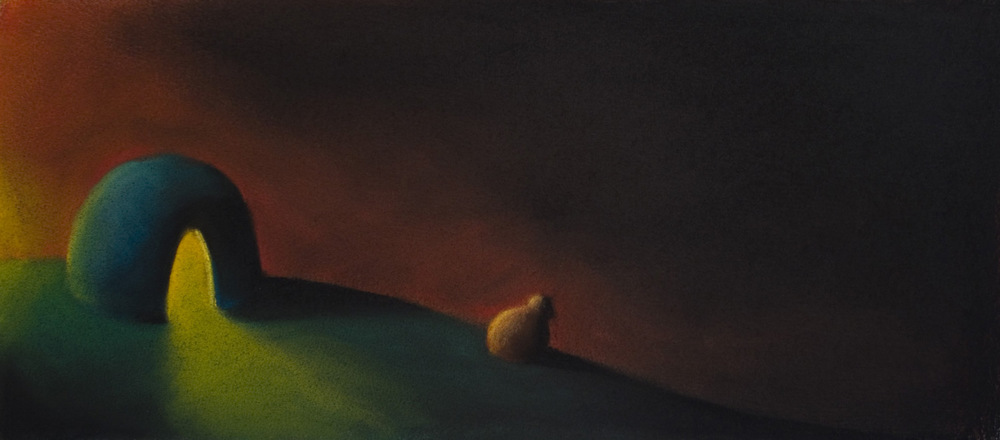 Approach the Darkness • 14 x 26 • Soft pastel on paper • 300