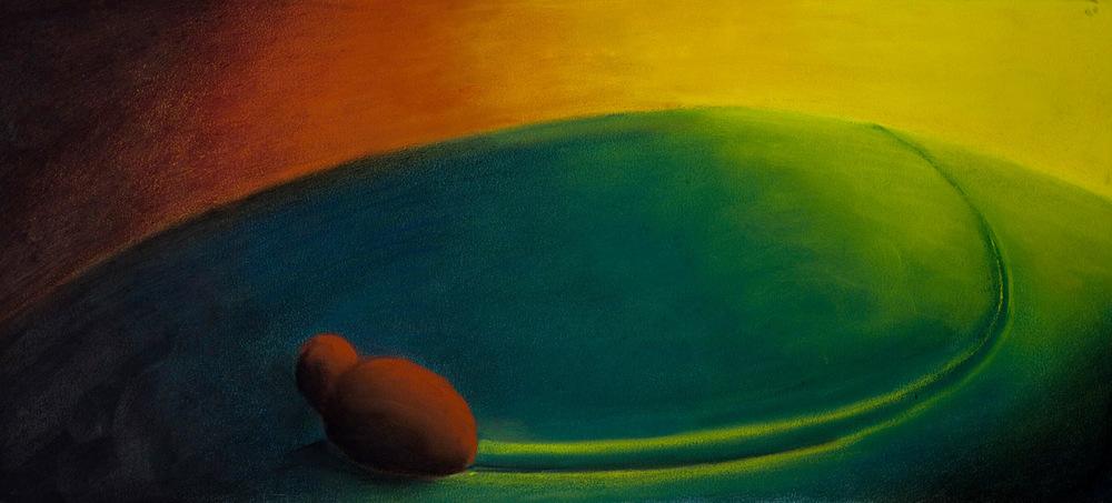 Wayward • 8 x 18 • Soft pastel on paper • 250