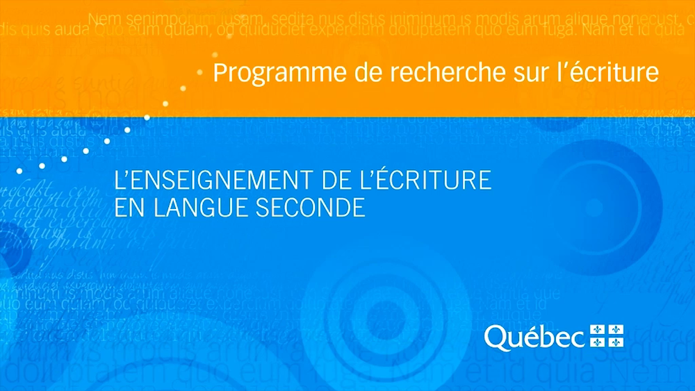 Capsule réalisée à partir de la recherche suivante:  ARMAND, Françoise,  L'enseignement de l'écriture en langue seconde. Synthèse de connaissances  , Université de Montréal, 2011.