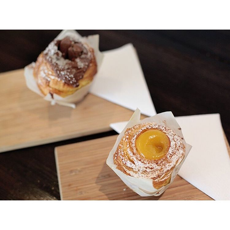 Soft and gooey lemon curd, or salted caramel Cruffins are available this afternoon.     Open until 5pm. Lomandra Drive, Currimundi  (at Sunshine Sunshine Espresso)