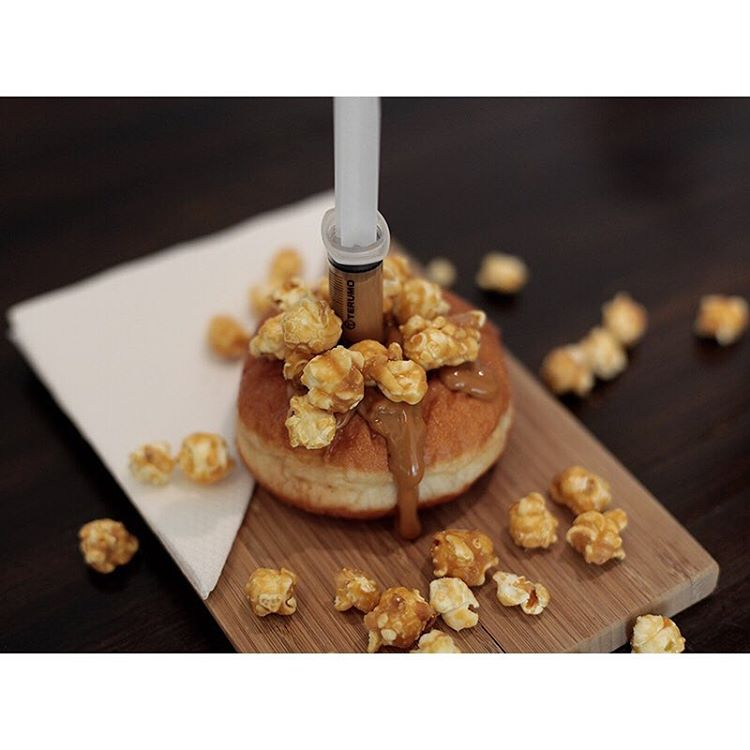 INJECTABLES • Double caramel popcorn, Nutella M&M, Caramel Malteaser, Honeycomb Condensed Milk. Open until 5pm (at Sunshine Sunshine Espresso)