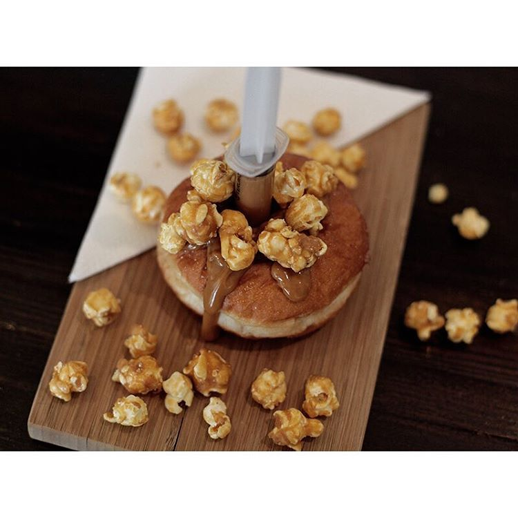 DOUBLE CARAMEL POPCORN INJECTABLES • Available until 5pm today. (at Sunshine Sunshine Espresso)