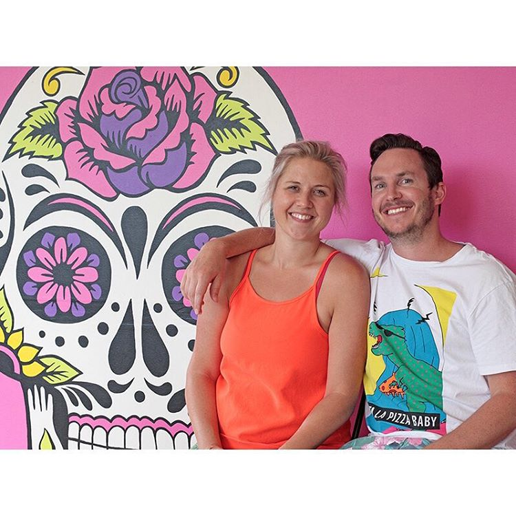 Nice little snap of our owners Aaron and Bec in front of our sugar skull mural. Look out for a little article and 2 for 1 coffee coupon coming out in a local newsletter. (at Sunshine Sunshine Espresso)
