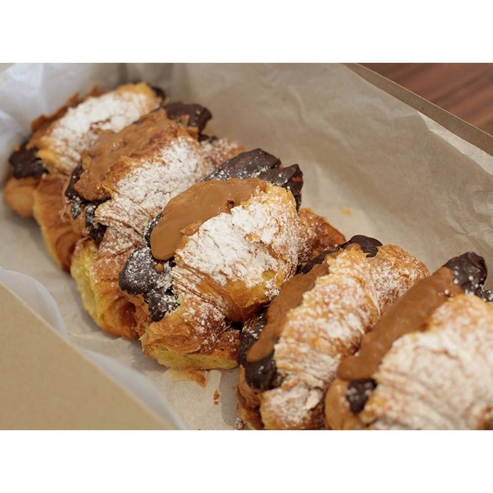 The original Croi-Clair is back!     Our fresh caramel filled croissant bursting with a cream filled chocolate eclair. Strictly limited.