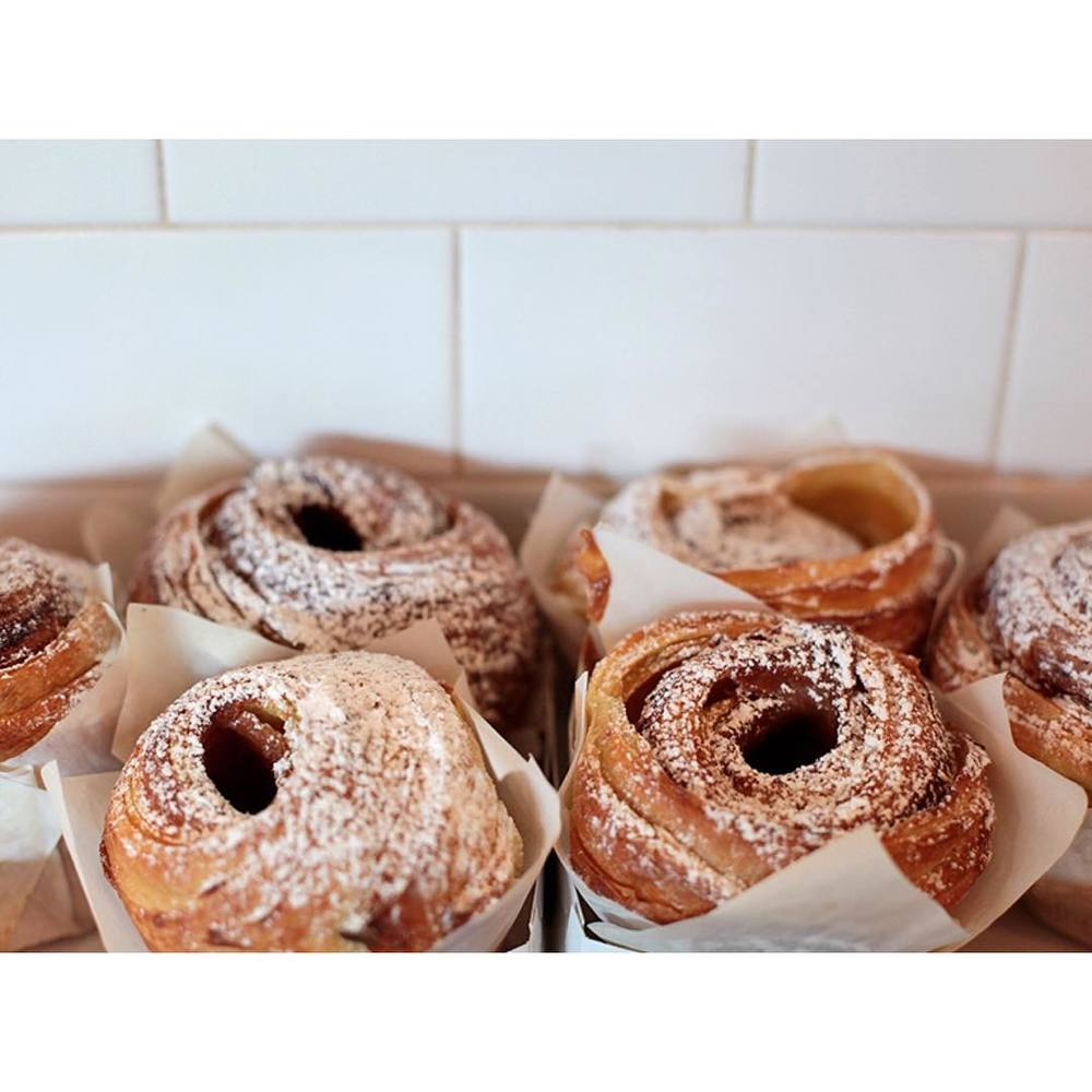 Fresh salted caramel cruffins. In store now.     Lomandra Drive, Currimundi.  (at Sunshine Sunshine Espresso)
