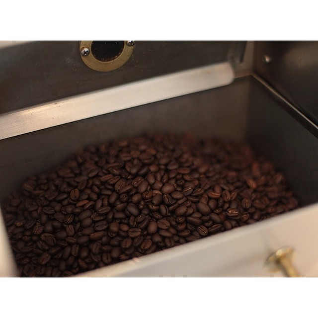 The roaster is in action pumping out our super smooth Sunny Boy Original this afternoon so expect that fresh roasted coffee smell when you arrive.     Open til 2pm  (at Sunshine Sunshine Espresso)
