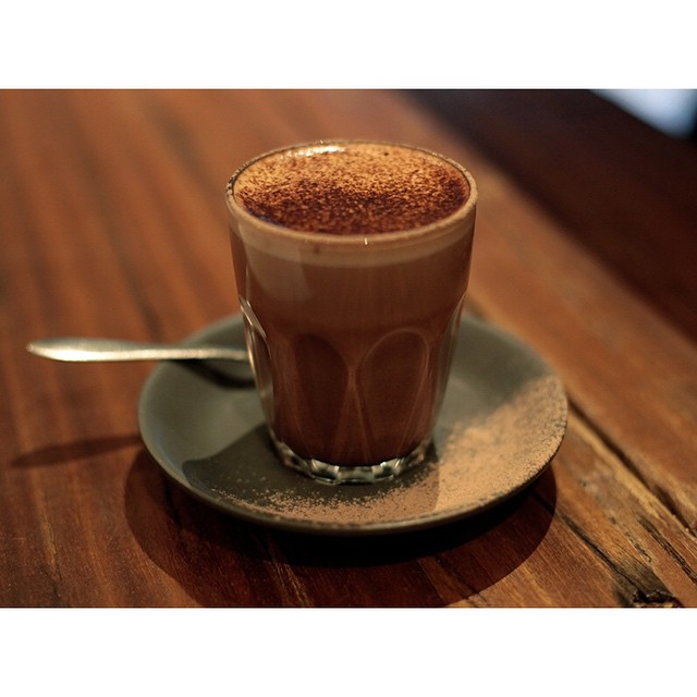 As it cools down, warm up with a cup of @morkchocolate hot chocolate. Available in 50%, 70% and 85%. The smoothest hot chocolate you've ever had. Available in take home packs also. Open til 2.
