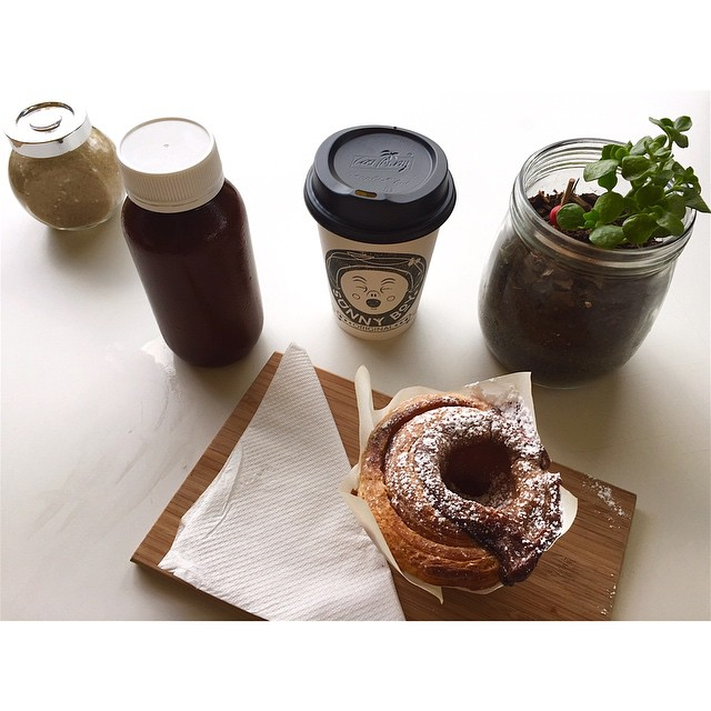 Good morning!     Get back into the swing of things this morning with a Sunny Boy Original for now, a salted caramel cruffin for a treat, and a cold drip iced latte for later.     Open 6-2 today.