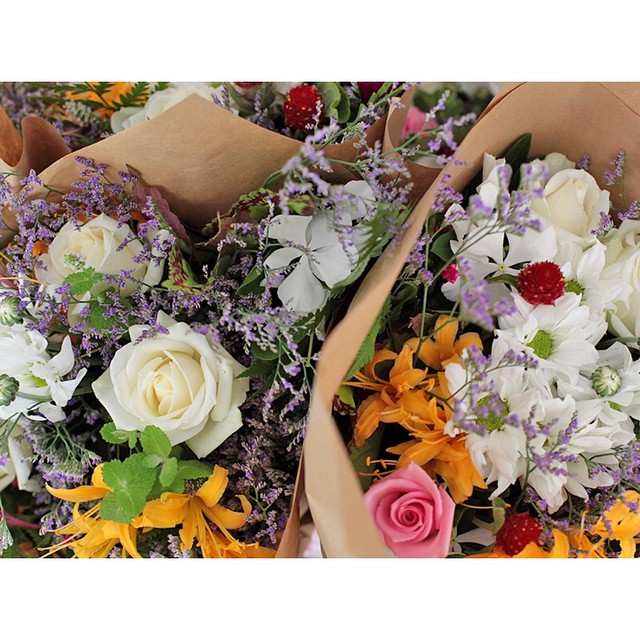 Fresh bunches of local flowers by @heavenlyblooms are now available in store.     Brighten up your home this weekend or surprise a loved one!