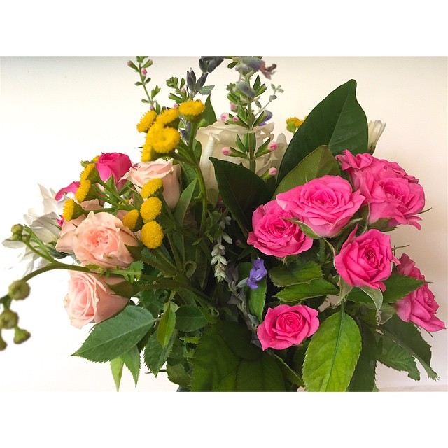 Fresh local flowers are in again this weekend. Brighten up your home or surprise a loved one.     Jars only $16 and bouquets $20. Limited amounts so drop by early.
