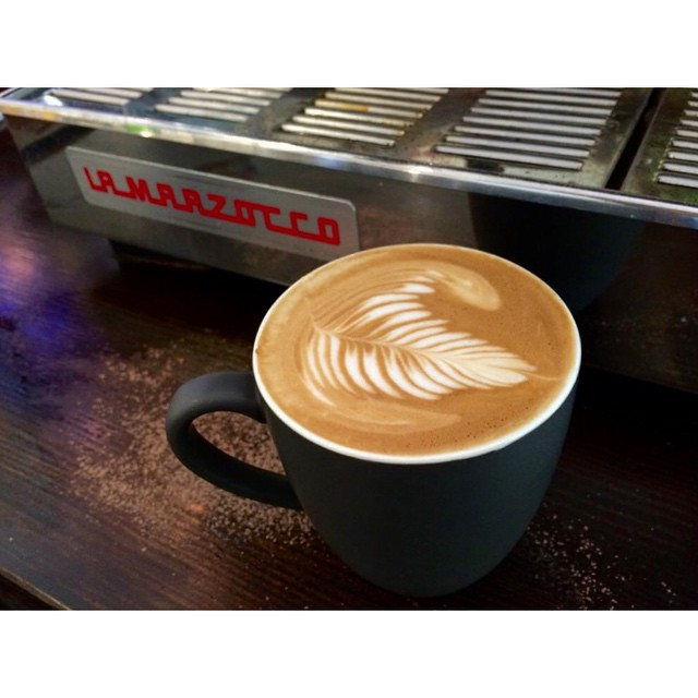 Perfect weather for a big cup of Sunny Boy Original. Come and visit our barista Gemma. Open 6-2.