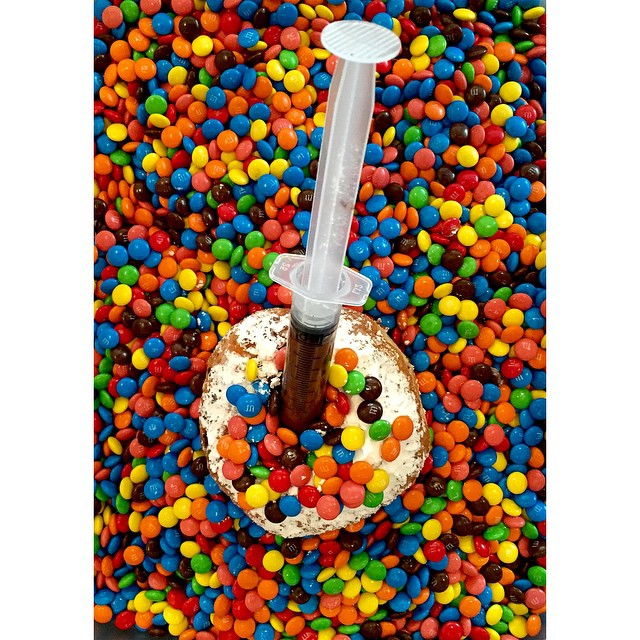 Nutella and M&Ms Injectable. Just one of our delicious flavours. We'll have a fresh batch in again tomorrow morning.