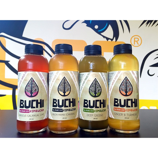The entire range of Buchi Kombucha is back in stock. Available in Buchi Mama (Original), Deep Greens, Hibiscus Galangal Lime, and Ginger Tumeric. Open 6-2.