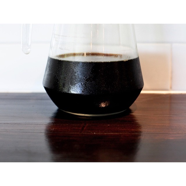 Black gold. Our cold drip Sunny Boy Original. 100% PNG Arabica from Mundo Novo, Bourbon and Aroosha varieties. This stuff is seriously smooth. Enjoy it over ice or in one of our big gulp iced lattes available every day instore.