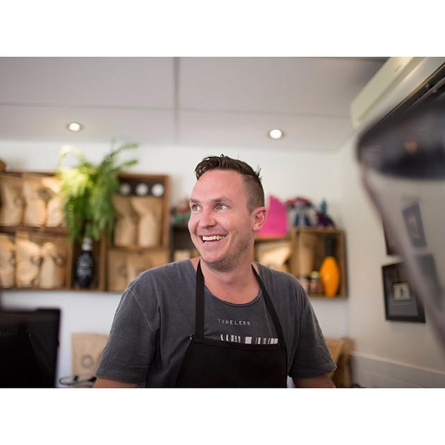 Come visit your friendly neighbourhood barista, Azza, serving up Sunny Boy Original until 2.