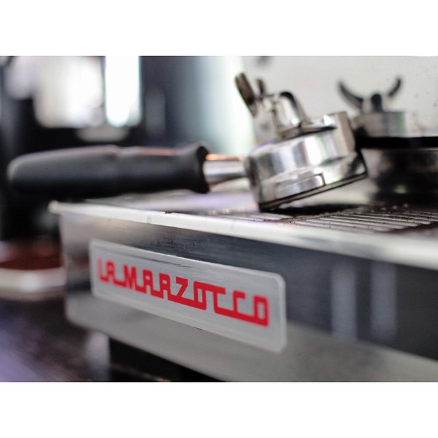 Only the best. Nothing would happen without our trusty La Marzocco.