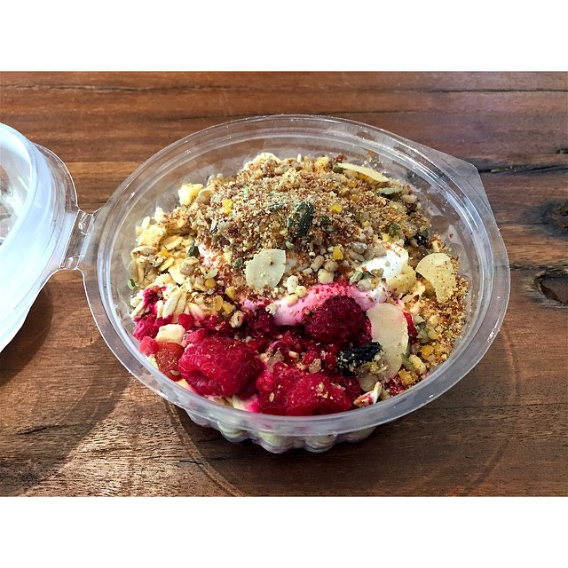 We have fresh muesli by BRKFST in this morning available in both Original and Dairy Free. We also have outdoor undercover seating so you can relax with a Sunny Boy and enjoy the rain falling. Open til 2.