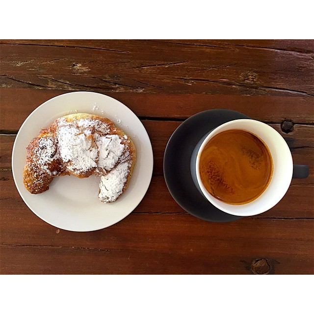 Fresh almond croissants are back in store! Sunny Boy Original is in the grinder. Open til 2.