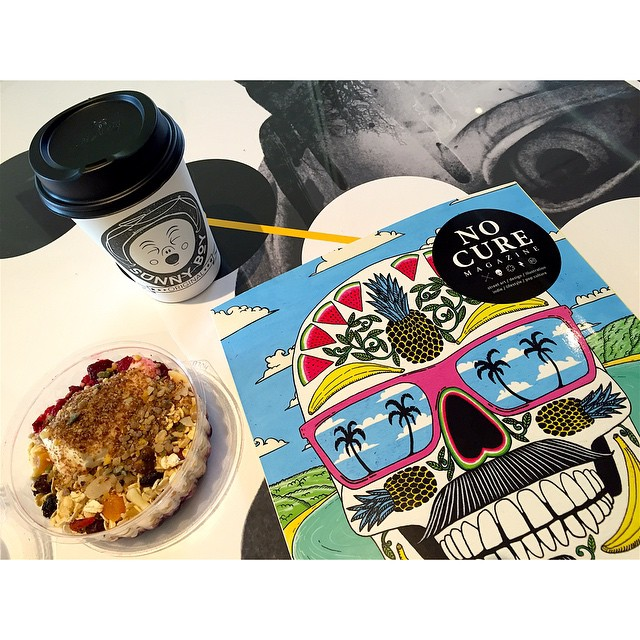 Breakfast is served. This morning we are roasting and grinding our super smooth Sunny Boy Original, we have fresh muesli cups by BRKFST available in Original and Dairy Free, and the latest edition of No Cure Magazine is here to get your creative juices flowing on this fine Thursday.