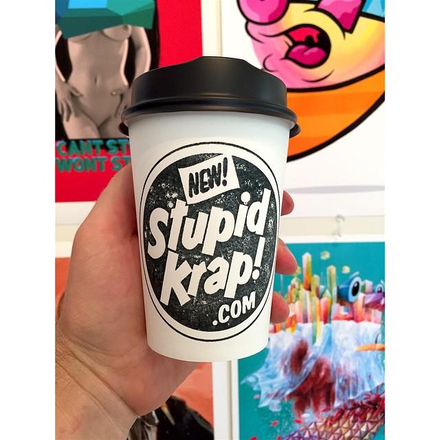 Tonight we are giving away 3 Stupid Krap t-shirts thanks to our friends at Stupid Krap! If your coffee cup has the Stupid Krap logo instead of our Sunny Boy Original logo, hit the barista up to claim your tee!