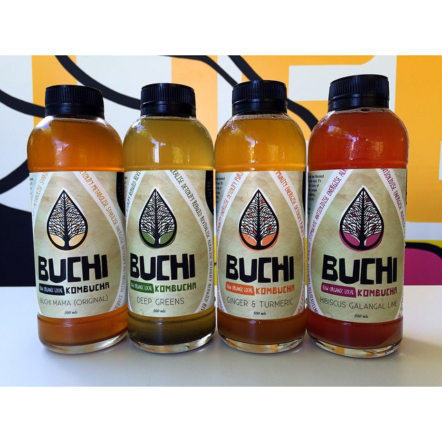 500ml bottles of Buchi Kombucha are back in stock! Available in four refreshing flavours: BUCHI MAMA (ORIGINAL) / DEEP GREENS / HIBISCUS GALANGAL LIME / GINGER TUMERIC.