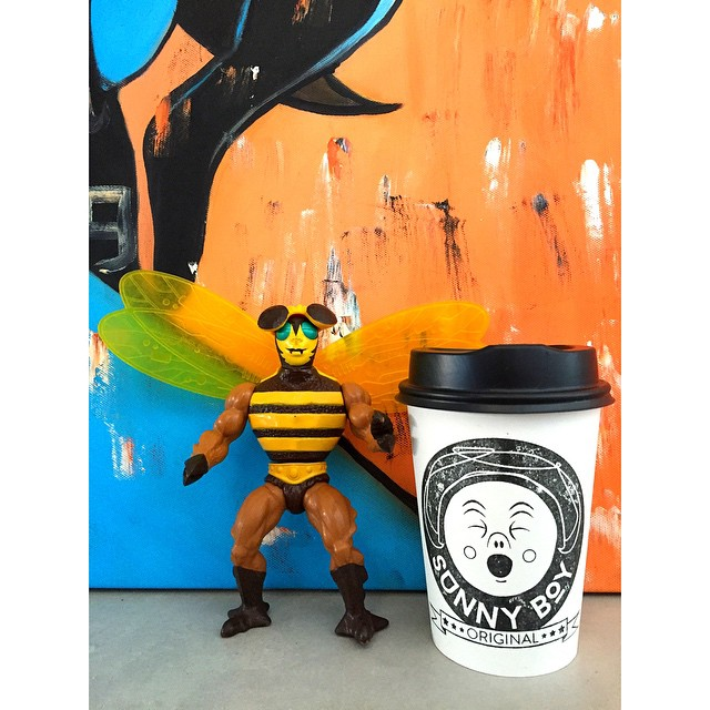Buzz Off! Just kidding, drop in this morning for fresh breakfast Turkish, brownie, almond croissants, Cronuts, iced Mork, iced lattes or a cup of our smooth Sunny Boy Original!