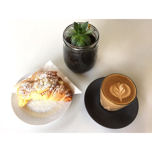 Come and get it. Come and get it.     Almond croissants are in the house.