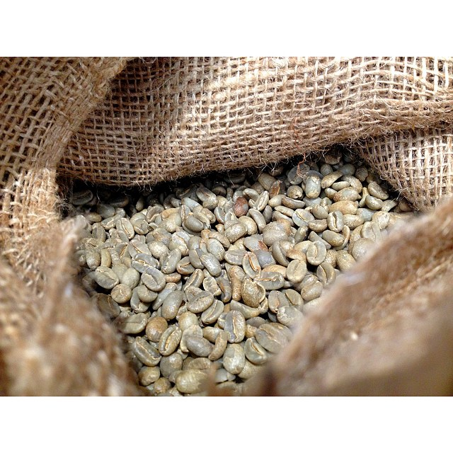 This is what our Sunny Boy Original blend looks like as green beans. We use 100% PNG Arabica consisting of Mundo Novo, Arusha and Bourbon varieties to ensure its the smoothest finish around. We will be roasting and grinding it all weekend so drop by Saturday and Sunday 7-2.