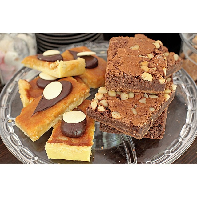 Macadamia brownies and gooey caramel slice are back in! We have a big slab of both of these so you can enjoy one with your Sunny Boy!