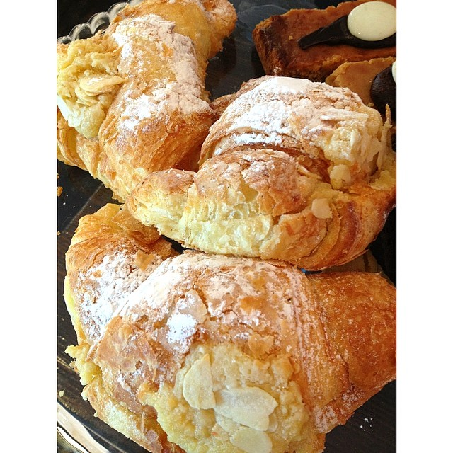 Almond croissants and chocolate banana bread are in fresh from the baker this morning!!! They smell amazing and taste even better. Drop by anytime before 2pm.