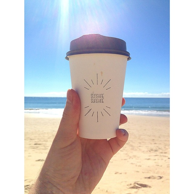The perfect day for a cup of our Sunny Boy Original on the beach. You gotta love Queensland in Winter!