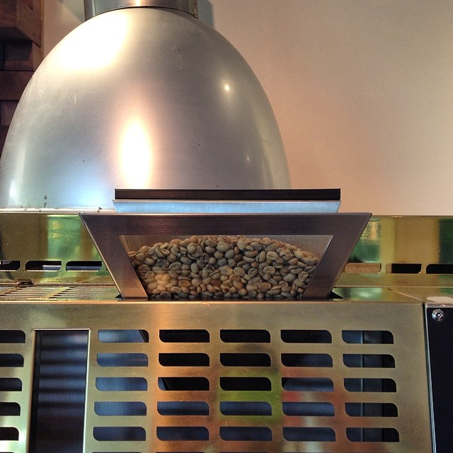 In the roaster today is our Double Rainbow blend. 90% Arabica beans with 10% Indian Robusta adds a little bite. We will be serving it up late next week. In the grinder today we have our super smooth Sunny Boy Original to round out another beautiful weekend on the coast. Open until 2pm today!