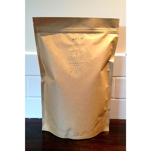 1kilo bags of freshly roasted Sunshine Original blend ready for the week ahead. Come see us 7 days.