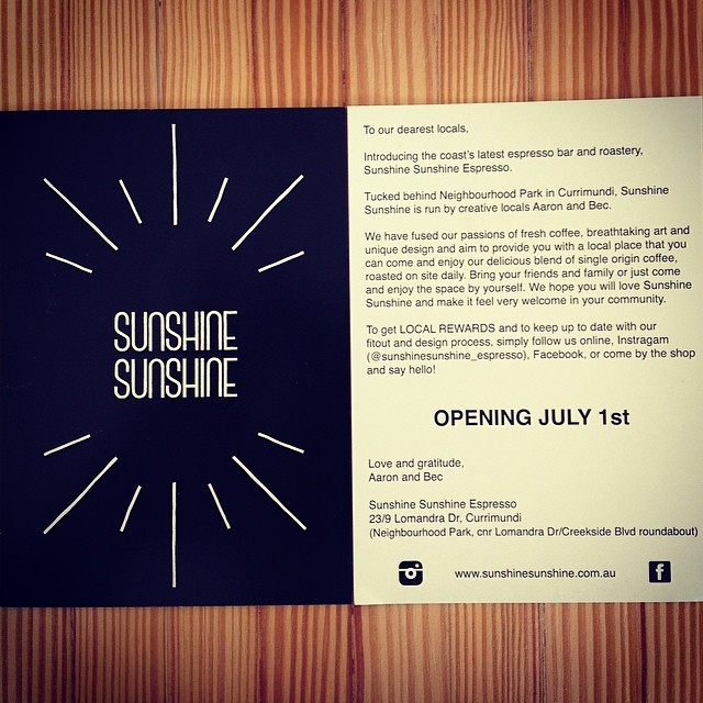 July 1st opening is well and truly on track!!! Are you going to be one of the lucky ones to grab a welcome postcard in the mail?