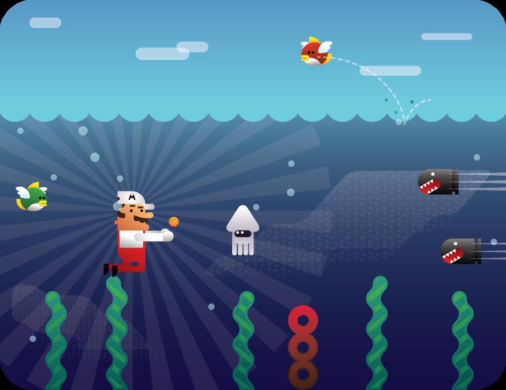 Super Mario UnderwaterbyGuillermoVA