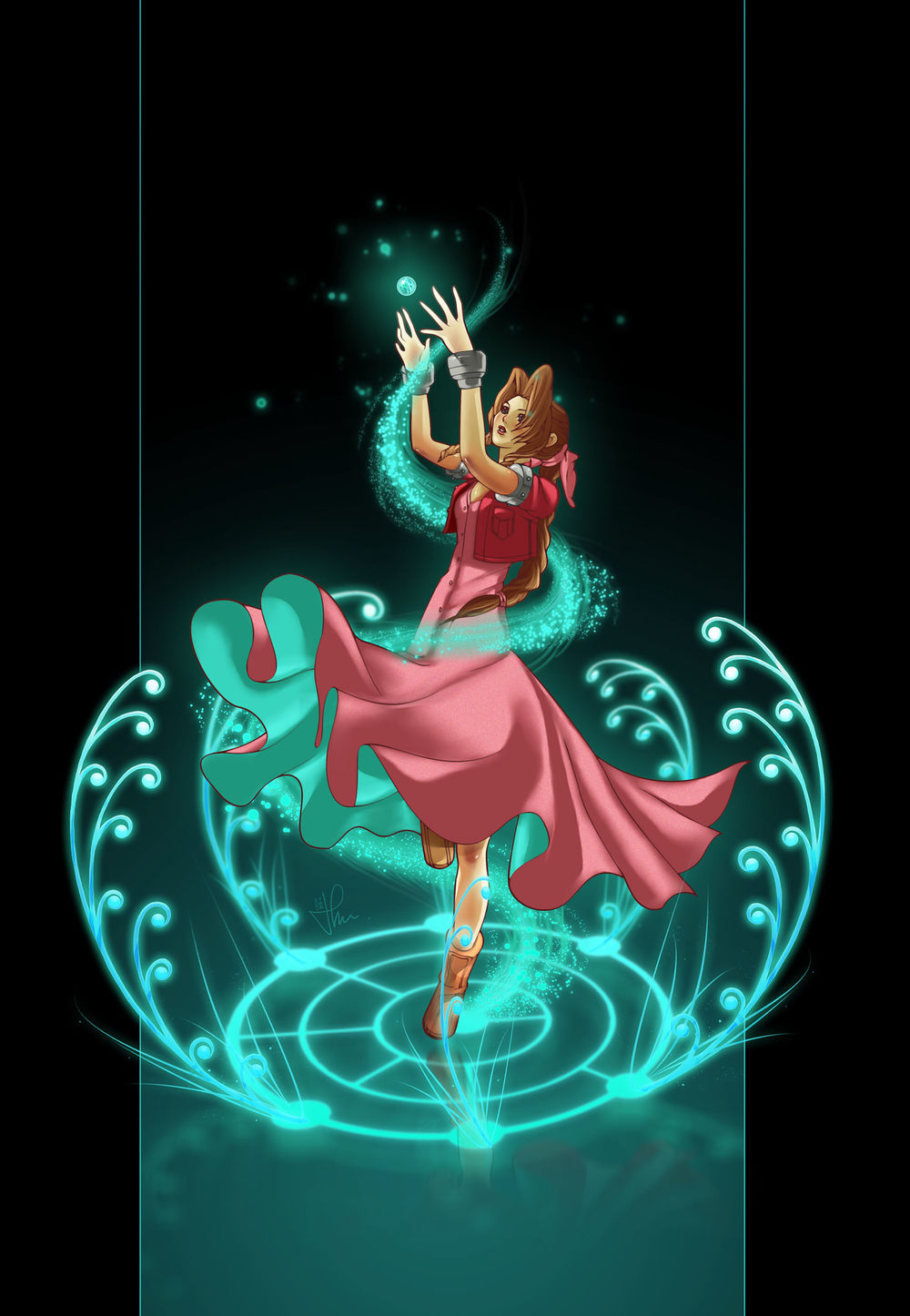 Aerith's materia   by    TholiaArt