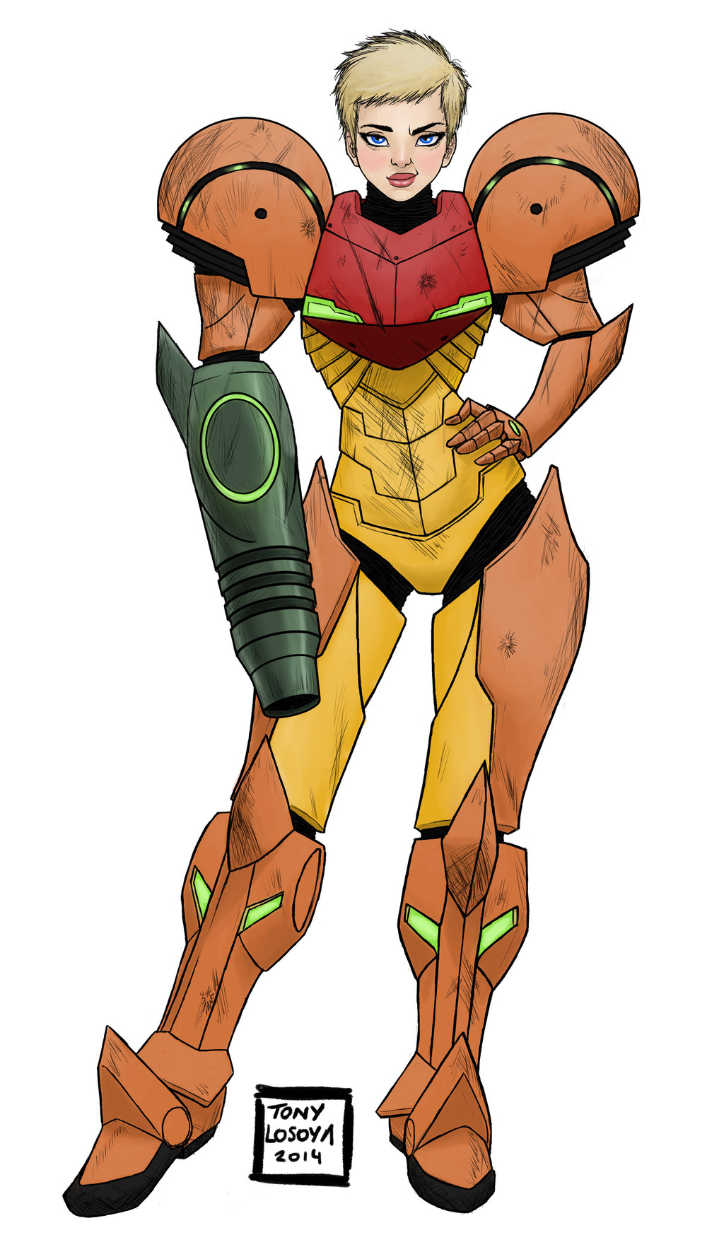 Samus Aran by Tony Losoya