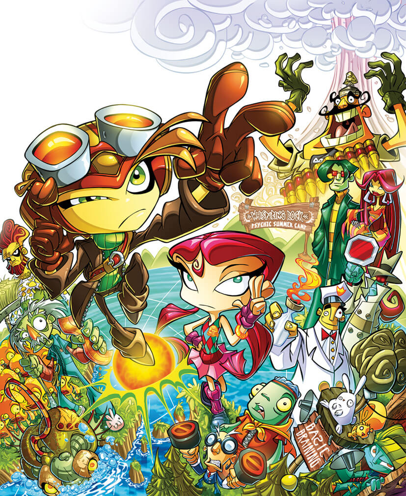 Psychonauts pin-up colors,  pencils by Rob Duenas, colors by Diego-Rodriguez