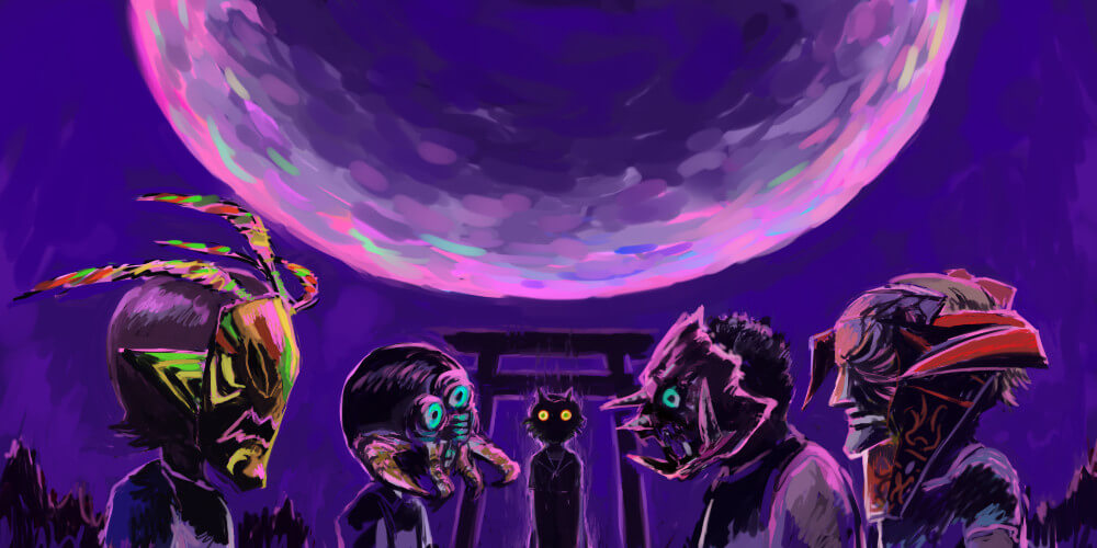 Kamen Party of Majora  by  Goat