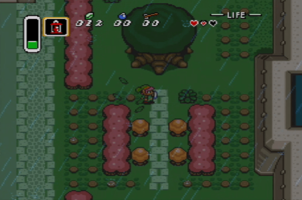 Zelda: What happened to the royal courtyard!?  Link: Wizards.