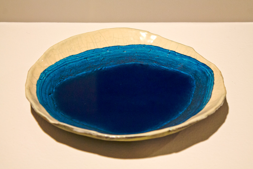 Evaporation Clock , 2012, Clay, glaze and water mixed with pigment 1.5 x 9 x 9 in.