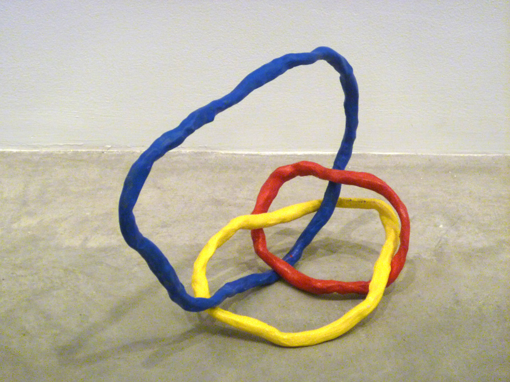 Borromean Ring Variation #4 , 2011, Clay with acrylic, 12 x 12 x 12 in.