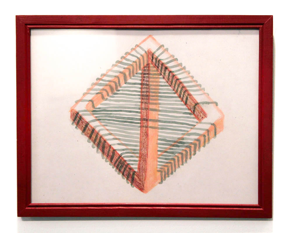 Guy Ben-Ari and Leah Wolff,  Lost Object of Desire , 2012, acrylic on paper, 8.5 x 11 in.