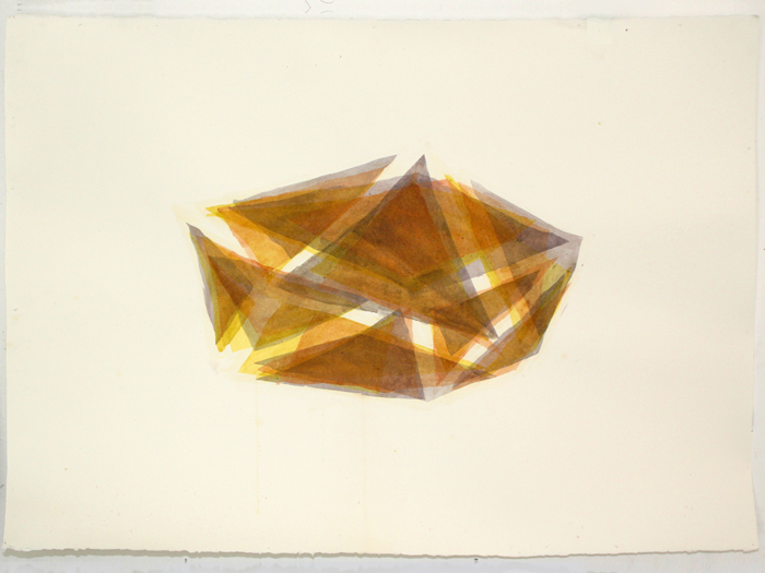 "Tesseract #5, 2010, Acrylic on paper, 22"" x 30"