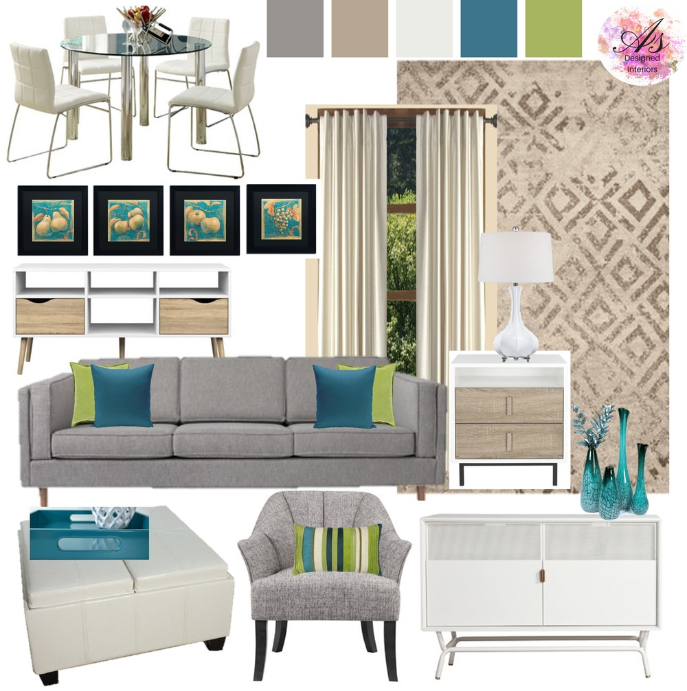 Teal And Lime Living Room And Dining Room Part 88