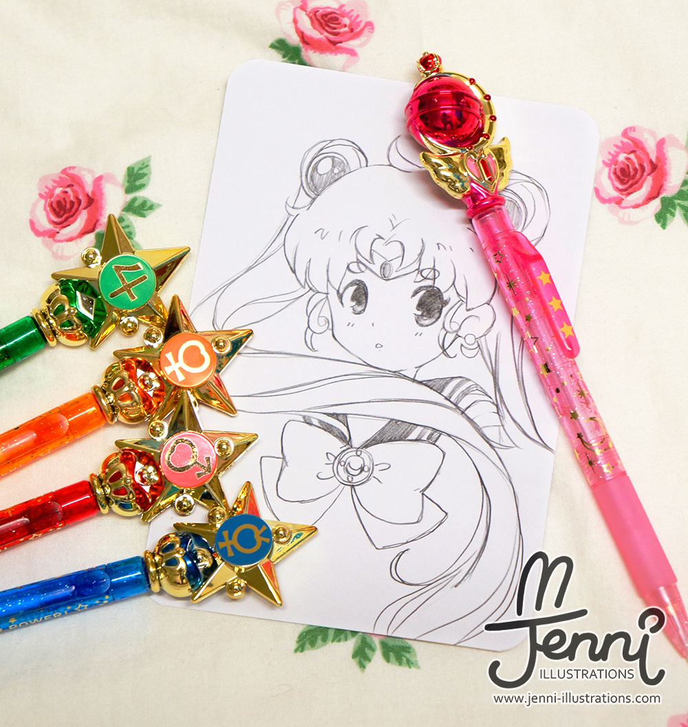 Sketch using the Sailor Moon Mechanical Pencil