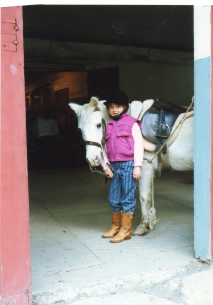 The young Beth with a Chincapin pony.