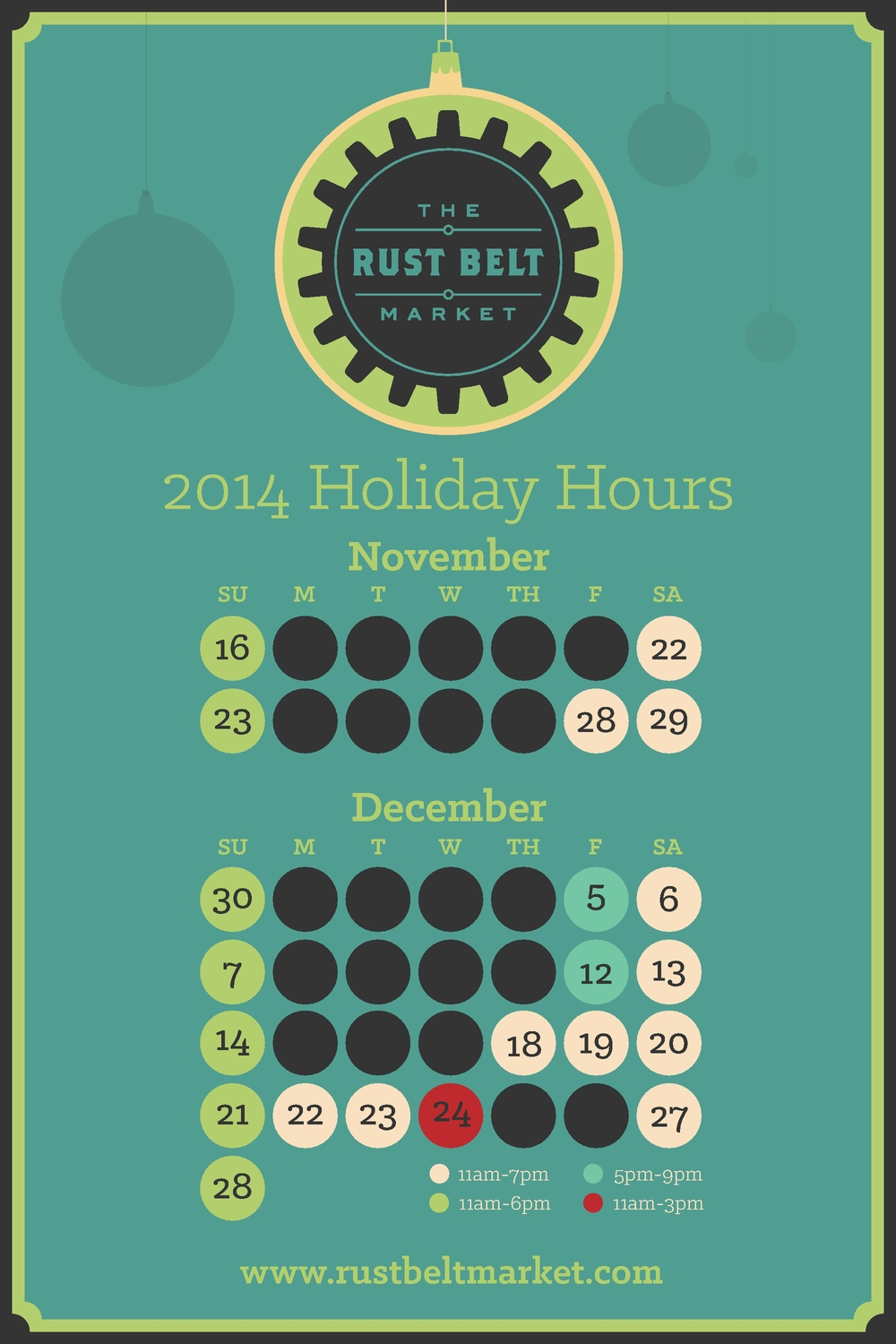 Our 2014 Extended Holiday Hours